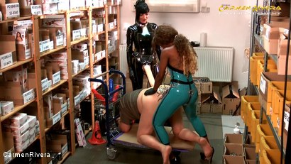 Photo number 16 from Dildo Shopping Queens: Chapter Two shot for Carmen Rivera on Kink.com. Featuring Carmen Rivera, Lady Sahara and Franky in hardcore BDSM & Fetish porn.