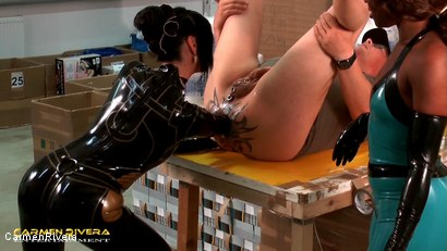 Photo number 9 from Dildo Shopping Queens: Chapter Three shot for Carmen Rivera on Kink.com. Featuring Carmen Rivera, Lady Sahara and Franky in hardcore BDSM & Fetish porn.