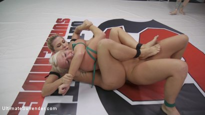 Beautiful, Powerful Blonde Wrestler is Destroyed on the Mats