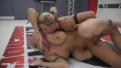 Photo number 4 from Beautiful, Powerful Blonde Wrestler is Destroyed on the Mats shot for Ultimate Surrender on Kink.com. Featuring Rizzo Ford, Ariel X and London River in hardcore BDSM & Fetish porn.