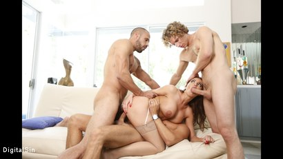 Photo number 27 from Britney Gangbangs Her Husbands Friends shot for Digital Sin on Kink.com. Featuring Britney Amber, Karlo Karrera, Michael Vegas, Ramon Nomar and Mick Blue in hardcore BDSM & Fetish porn.