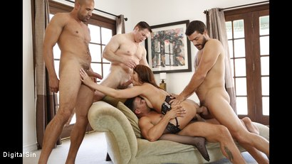 Photo number 19 from I Told My Wife Bianca To Gangbang shot for Digital Sin on Kink.com. Featuring Bianca Breeze, Karlo Karrera, Ramon Nomar, Toni Ribas and John Strong in hardcore BDSM & Fetish porn.