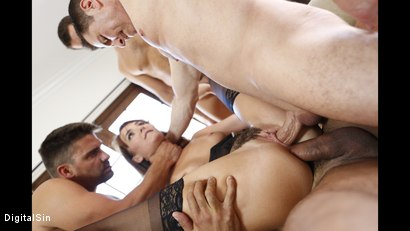 Photo number 23 from I Told My Wife Bianca To Gangbang shot for Digital Sin on Kink.com. Featuring Bianca Breeze, Karlo Karrera, Ramon Nomar, Toni Ribas and John Strong in hardcore BDSM & Fetish porn.