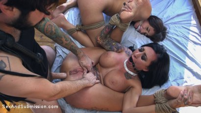Photo number 8 from Mob Rules shot for Sex And Submission on Kink.com. Featuring Tommy Pistol, Avi Love  and Lily Lane in hardcore BDSM & Fetish porn.