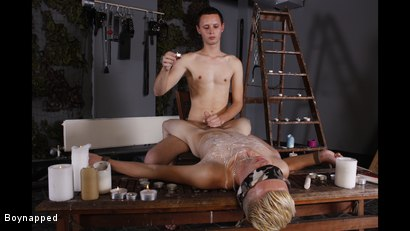 Photo number 2 from Splashed With Wax And Cum shot for Boynapped on Kink.com. Featuring Aiden Jason and Luca Finn in hardcore BDSM & Fetish porn.
