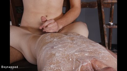 Photo number 3 from Splashed With Wax And Cum shot for Boynapped on Kink.com. Featuring Aiden Jason and Luca Finn in hardcore BDSM & Fetish porn.
