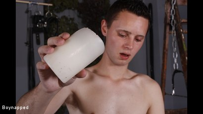 Photo number 5 from Splashed With Wax And Cum shot for Boynapped on Kink.com. Featuring Aiden Jason and Luca Finn in hardcore BDSM & Fetish porn.