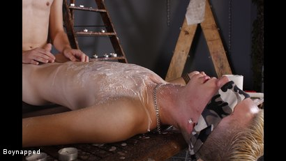 Photo number 8 from Splashed With Wax And Cum shot for Boynapped on Kink.com. Featuring Aiden Jason and Luca Finn in hardcore BDSM & Fetish porn.