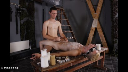Photo number 10 from Splashed With Wax And Cum shot for Boynapped on Kink.com. Featuring Aiden Jason and Luca Finn in hardcore BDSM & Fetish porn.