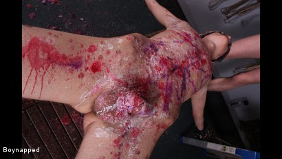 Photo number 5 from Reece Gets Waxed And Fed shot for Boynapped on Kink.com. Featuring Adam Watson and Reece Bentley in hardcore BDSM & Fetish porn.