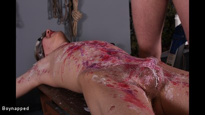 Photo number 9 from Reece Gets Waxed And Fed shot for Boynapped on Kink.com. Featuring Adam Watson and Reece Bentley in hardcore BDSM & Fetish porn.