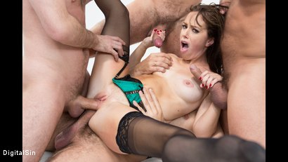 Photo number 14 from Alana Gets Dp'd And Double Vag'd in her FIRST Gangbang! shot for Digital Sin on Kink.com. Featuring Alana Cruise , James Deen, Toni Ribas, Steve Holmes and Ramon Nomar in hardcore BDSM & Fetish porn.