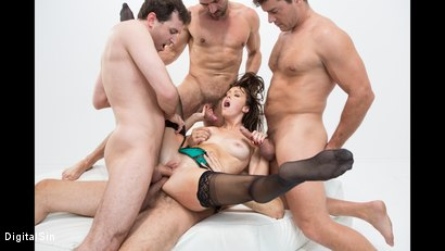 Photo number 15 from Alana Gets Dp'd And Double Vag'd in her FIRST Gangbang! shot for Digital Sin on Kink.com. Featuring Alana Cruise , James Deen, Toni Ribas, Steve Holmes and Ramon Nomar in hardcore BDSM & Fetish porn.