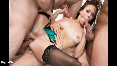 Photo number 16 from Alana Gets Dp'd And Double Vag'd in her FIRST Gangbang! shot for Digital Sin on Kink.com. Featuring Alana Cruise , James Deen, Toni Ribas, Steve Holmes and Ramon Nomar in hardcore BDSM & Fetish porn.