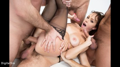 Photo number 20 from Alana Gets Dp'd And Double Vag'd in her FIRST Gangbang! shot for Digital Sin on Kink.com. Featuring Alana Cruise , James Deen, Toni Ribas, Steve Holmes and Ramon Nomar in hardcore BDSM & Fetish porn.