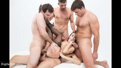 Photo number 21 from Alana Gets Dp'd And Double Vag'd in her FIRST Gangbang! shot for Digital Sin on Kink.com. Featuring Alana Cruise , James Deen, Toni Ribas, Steve Holmes and Ramon Nomar in hardcore BDSM & Fetish porn.