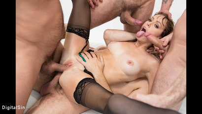 Photo number 24 from Alana Gets Dp'd And Double Vag'd in her FIRST Gangbang! shot for Digital Sin on Kink.com. Featuring Alana Cruise , James Deen, Toni Ribas, Steve Holmes and Ramon Nomar in hardcore BDSM & Fetish porn.