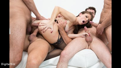 Photo number 33 from Alana Gets Dp'd And Double Vag'd in her FIRST Gangbang! shot for Digital Sin on Kink.com. Featuring Alana Cruise , James Deen, Toni Ribas, Steve Holmes and Ramon Nomar in hardcore BDSM & Fetish porn.