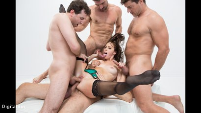 Photo number 8 from Alana Gets Dp'd And Double Vag'd in her FIRST Gangbang! shot for Digital Sin on Kink.com. Featuring Alana Cruise , James Deen, Toni Ribas, Steve Holmes and Ramon Nomar in hardcore BDSM & Fetish porn.