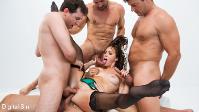 Alana Gets Dp'd And Double Vag'd in her FIRST Gangbang!