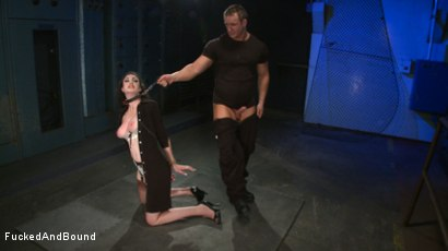 Photo number 9 from Brunette Tattooed Pin-Up Girl Gets Fucked in Bondage shot for Fucked and Bound on Kink.com. Featuring Natalie Minx and TJ Cummings in hardcore BDSM & Fetish porn.