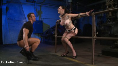 Photo number 12 from Brunette Tattooed Pin-Up Girl Gets Fucked in Bondage shot for Fucked and Bound on Kink.com. Featuring Natalie Minx and TJ Cummings in hardcore BDSM & Fetish porn.