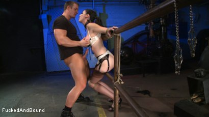 Photo number 13 from Brunette Tattooed Pin-Up Girl Gets Fucked in Bondage shot for Fucked and Bound on Kink.com. Featuring Natalie Minx and TJ Cummings in hardcore BDSM & Fetish porn.