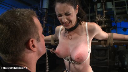 Photo number 14 from Brunette Tattooed Pin-Up Girl Gets Fucked in Bondage shot for Fucked and Bound on Kink.com. Featuring Natalie Minx and TJ Cummings in hardcore BDSM & Fetish porn.