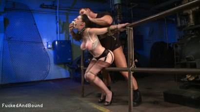 Photo number 16 from Brunette Tattooed Pin-Up Girl Gets Fucked in Bondage shot for Fucked and Bound on Kink.com. Featuring Natalie Minx and TJ Cummings in hardcore BDSM & Fetish porn.