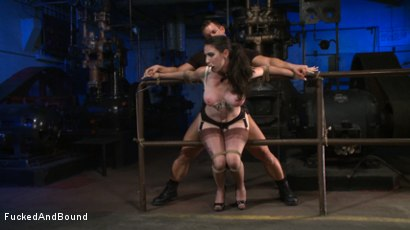 Photo number 17 from Brunette Tattooed Pin-Up Girl Gets Fucked in Bondage shot for Fucked and Bound on Kink.com. Featuring Natalie Minx and TJ Cummings in hardcore BDSM & Fetish porn.