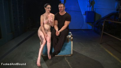 Photo number 26 from Brunette Tattooed Pin-Up Girl Gets Fucked in Bondage shot for Fucked and Bound on Kink.com. Featuring Natalie Minx and TJ Cummings in hardcore BDSM & Fetish porn.