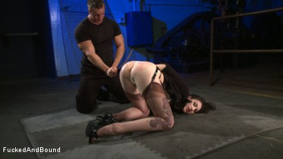 Photo number 4 from Brunette Tattooed Pin-Up Girl Gets Fucked in Bondage shot for Fucked and Bound on Kink.com. Featuring Natalie Minx and TJ Cummings in hardcore BDSM & Fetish porn.