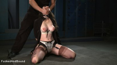 Photo number 8 from Brunette Tattooed Pin-Up Girl Gets Fucked in Bondage shot for Fucked and Bound on Kink.com. Featuring Natalie Minx and TJ Cummings in hardcore BDSM & Fetish porn.