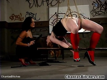 Photo number 6 from Cunt Juice Covered Banana shot for Chantas Bitches on Kink.com. Featuring Madison Young and Sandra Romain in hardcore BDSM & Fetish porn.