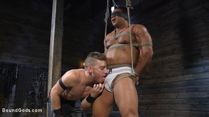 Photo number 2 from Bound bodybuilding god at the hands and torment of Mr Keys shot for Bound Gods on Kink.com. Featuring Draven Navarro and Sebastian Keys in hardcore BDSM & Fetish porn.