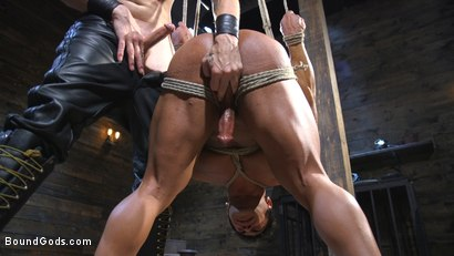 Photo number 11 from Bound bodybuilding god at the hands and torment of Mr Keys shot for Bound Gods on Kink.com. Featuring Draven Navarro and Sebastian Keys in hardcore BDSM & Fetish porn.