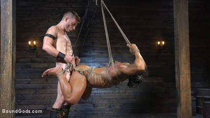 Photo number 12 from Bound bodybuilding god at the hands and torment of Mr Keys shot for Bound Gods on Kink.com. Featuring Draven Navarro and Sebastian Keys in hardcore BDSM & Fetish porn.