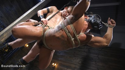 Photo number 13 from Bound bodybuilding god at the hands and torment of Mr Keys shot for Bound Gods on Kink.com. Featuring Draven Navarro and Sebastian Keys in hardcore BDSM & Fetish porn.