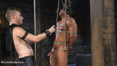 Photo number 6 from Bound bodybuilding god at the hands and torment of Mr Keys shot for Bound Gods on Kink.com. Featuring Draven Navarro and Sebastian Keys in hardcore BDSM & Fetish porn.