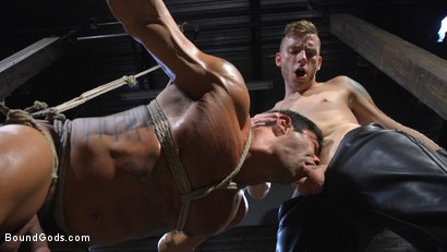 Photo number 7 from Bound bodybuilding god at the hands and torment of Mr Keys shot for Bound Gods on Kink.com. Featuring Draven Navarro and Sebastian Keys in hardcore BDSM & Fetish porn.