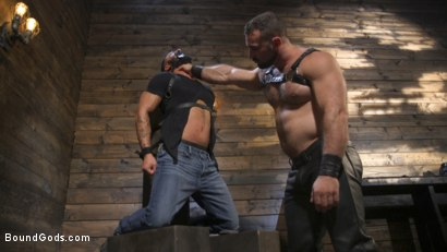 Photo number 1 from Built and Bullied in Bondage  shot for Bound Gods on Kink.com. Featuring Jaxton Wheeler and Damian Taylor in hardcore BDSM & Fetish porn.