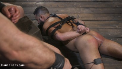 Photo number 15 from Built and Bullied in Bondage  shot for Bound Gods on Kink.com. Featuring Jaxton Wheeler and Damian Taylor in hardcore BDSM & Fetish porn.