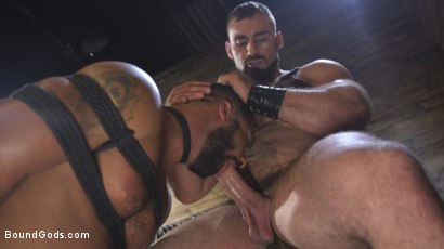 Photo number 16 from Built and Bullied in Bondage  shot for Bound Gods on Kink.com. Featuring Jaxton Wheeler and Damian Taylor in hardcore BDSM & Fetish porn.