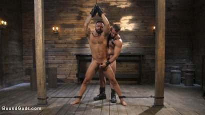 Photo number 19 from Built and Bullied in Bondage  shot for Bound Gods on Kink.com. Featuring Jaxton Wheeler and Damian Taylor in hardcore BDSM & Fetish porn.
