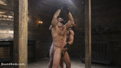 Photo number 21 from Built and Bullied in Bondage  shot for Bound Gods on Kink.com. Featuring Jaxton Wheeler and Damian Taylor in hardcore BDSM & Fetish porn.