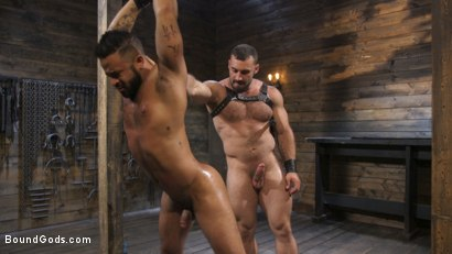 Photo number 22 from Built and Bullied in Bondage  shot for Bound Gods on Kink.com. Featuring Jaxton Wheeler and Damian Taylor in hardcore BDSM & Fetish porn.