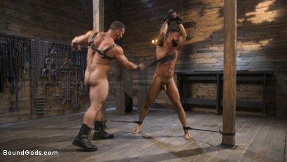 Photo number 23 from Built and Bullied in Bondage  shot for Bound Gods on Kink.com. Featuring Jaxton Wheeler and Damian Taylor in hardcore BDSM & Fetish porn.