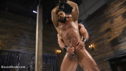 Photo number 26 from Built and Bullied in Bondage  shot for Bound Gods on Kink.com. Featuring Jaxton Wheeler and Damian Taylor in hardcore BDSM & Fetish porn.
