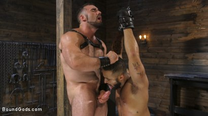 Photo number 29 from Built and Bullied in Bondage  shot for Bound Gods on Kink.com. Featuring Jaxton Wheeler and Damian Taylor in hardcore BDSM & Fetish porn.