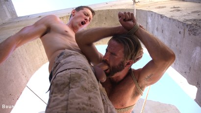Photo number 15 from Muscled Rope Slut Abducted, Bound, Flogged, and Fucked shot for Bound Gods on Kink.com. Featuring Brendan Patrick and Pierce Paris in hardcore BDSM & Fetish porn.